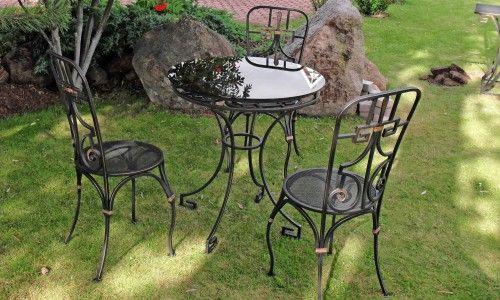 Фото - Ковані меблі для саду - особливості вибору та догляду
