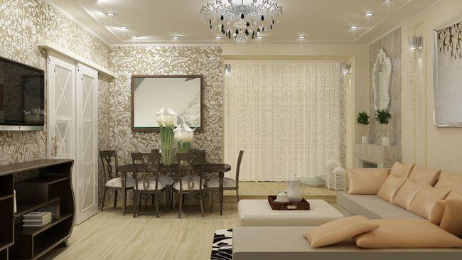 Фото - Красива і зручна вітальня 30 кв м: дизайн суміщеного простору