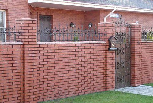 Фото - Гарний паркан з цегли своїми руками