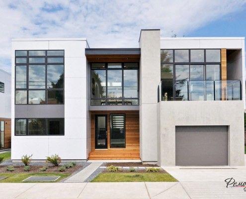 Білий дім з плоским дахом