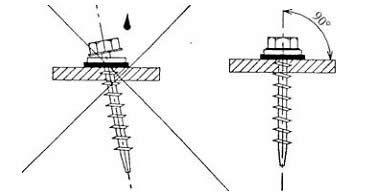 Приклад правильного вгвинчування саморізів