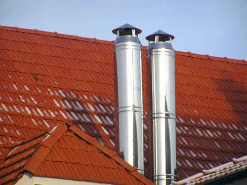 Димохід на даху будинку