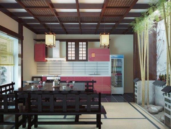 Японський дизайн кухні фото