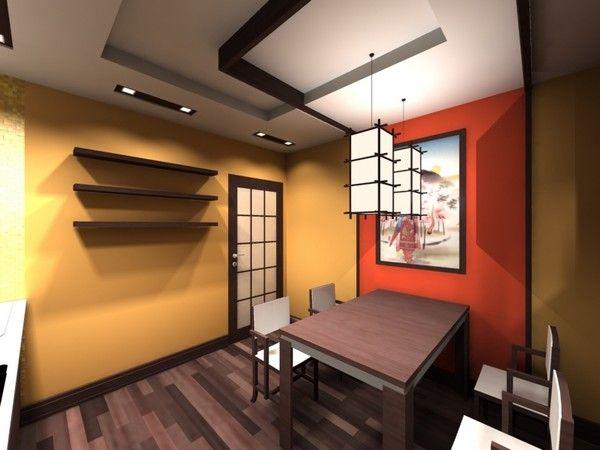 дизайн кухні в японському стилі фото