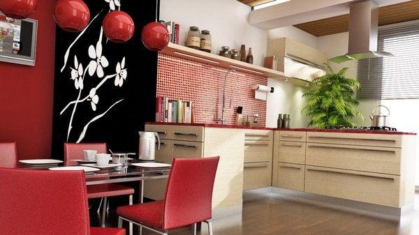 інтерєр кухні в японському стилі