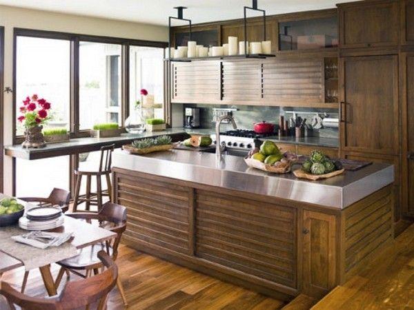 Деревяна кухня в японській тематиці фото