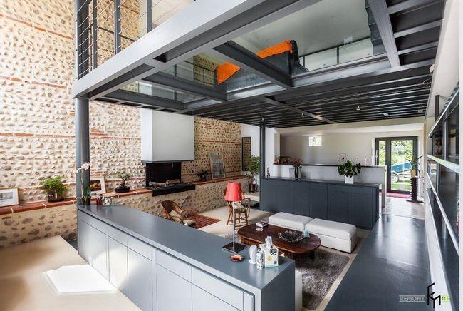 Індустріального в дизайні вітальні