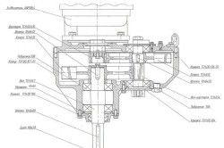 Схема пристрою мотора бурової установки