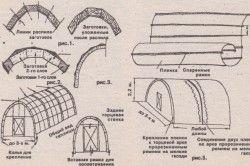 Схема монтажу плівкової теплиці