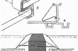 Види кріплення скла до теплиці:: а-традиційний спосіб-б, в - беззамазочние способи