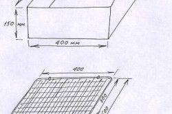 Схема простого мангала з металу