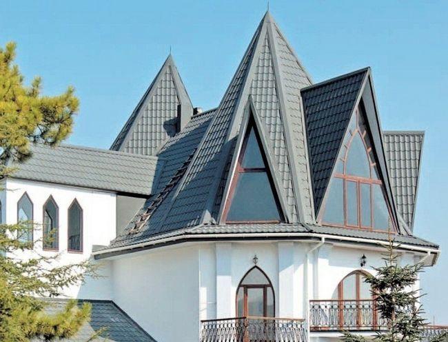 Фото - Металочерепиця на ламаній даху від «а» до «я»