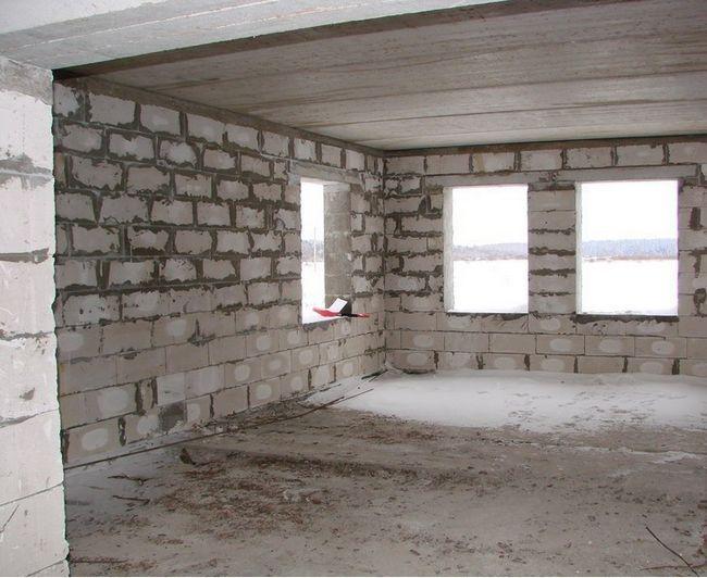 Фото - Міжповерхове перекриття в будинку з піноблоків