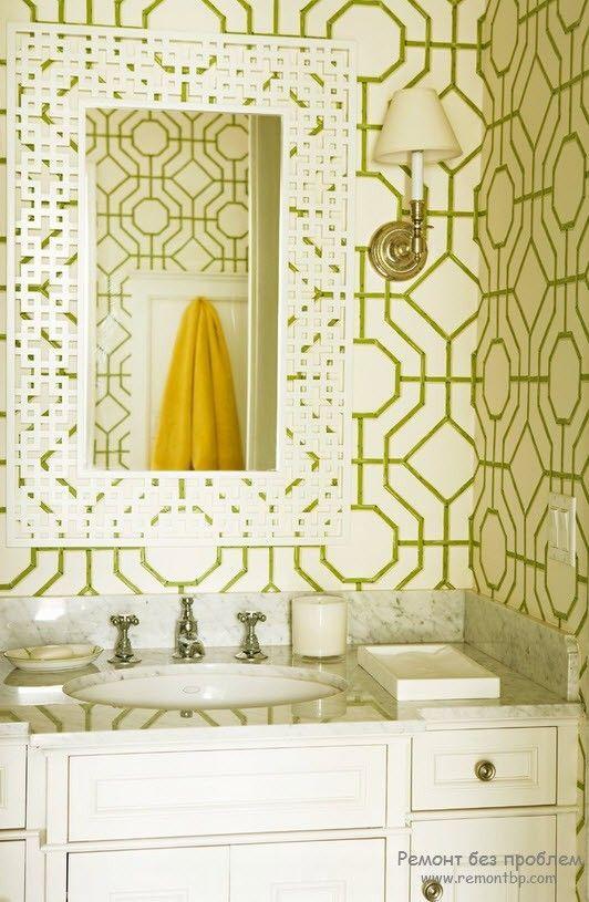 Шпалери в ванній