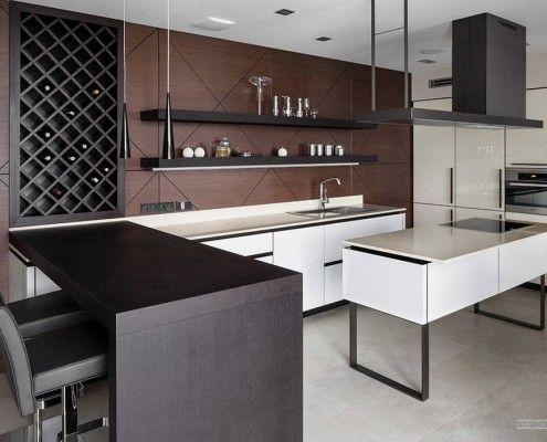 Деревяні елементи в кухонних меблів