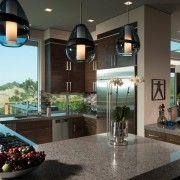 Оригінальні світильники на кухні
