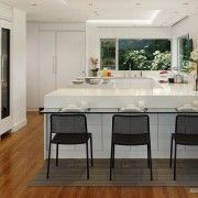 Контрастні відтінки на кухні