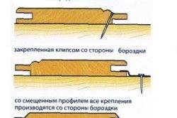 Кріплення деревяної вагонки на цвяхи