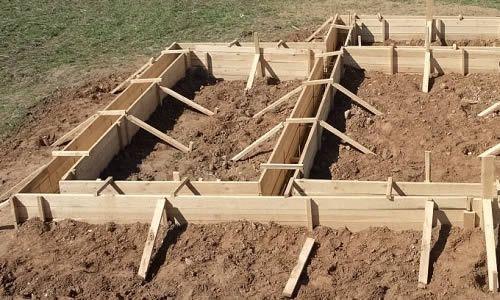 Опалубка для стрічкового фундаменту