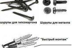 Кріпильні елементи гіпсокартонних конструкцій