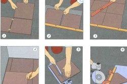 Схема облицювання підлоги керамічною плиткою