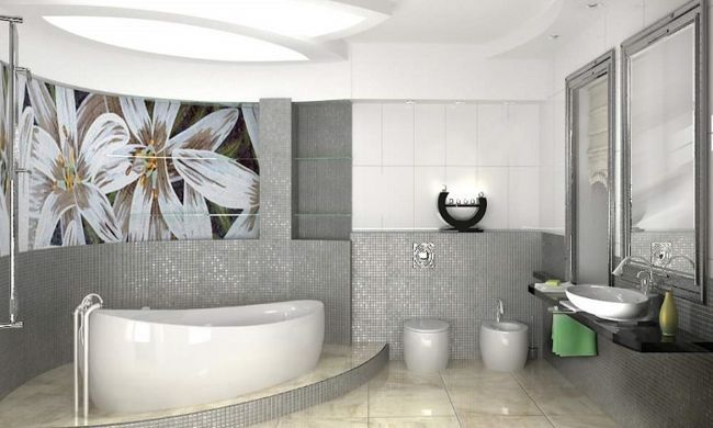 Дизайн ванної за допомогою гіпсокартону