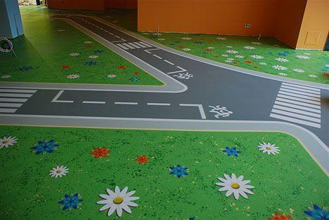 Наливна підлога в дитячій кімнаті