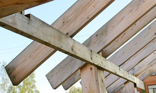 Фото - Призначення крокв брусового будинку