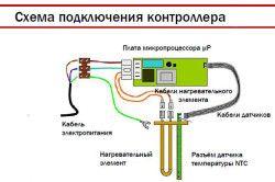 Схема підключення контролера електричного водонагрівача