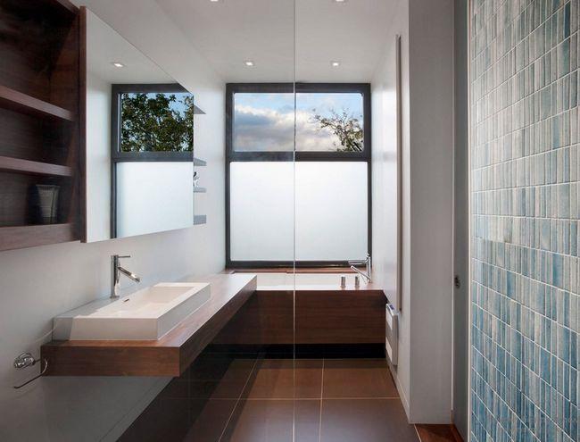 Фото - Стильний дизайн вікон ванній