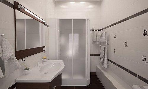 Дизайн ванної з душовою кабіною