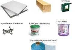 Інструменти і матеріали для утеплення стін пінопластом