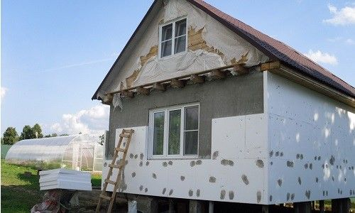 Фото - Облицювання будівлі пінопластом