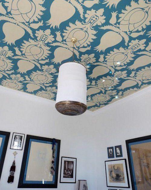 Які шпалери вибрати для стелі