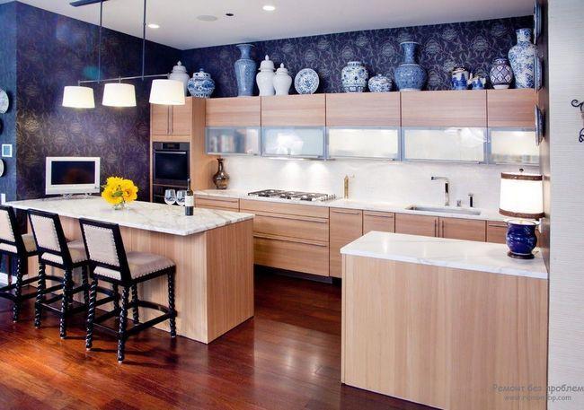 Кухня в синьому