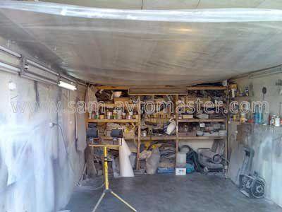 Устаткування гаража для фарбування автомобіля