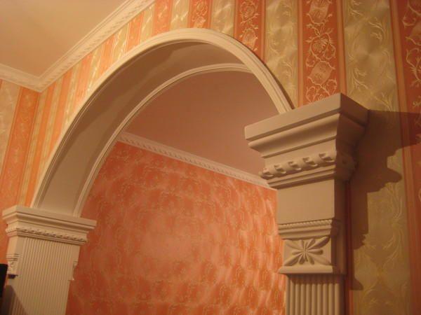 Фото - Устаткування гіпсокартонної арки в квартирі