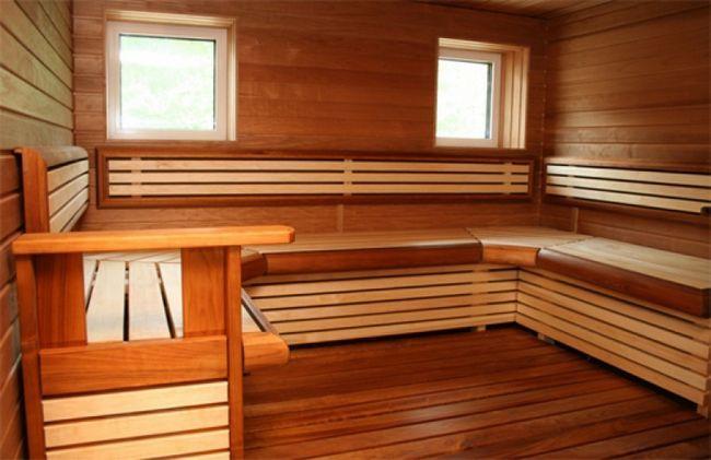 Фото - Обробка дерев'яних полиць в лазні