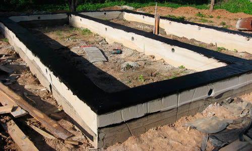 Фото - Обробка фундаменту для захисту від ґрунтових і талих вод