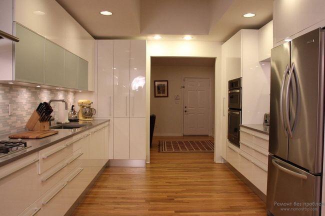 Фото - Стильні інтер'єри глянсовою кухні - блиск і гламур у вашій квартирі