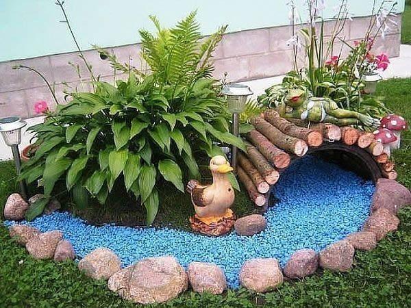 Фото - Облаштування саду - створення декоративного струмка