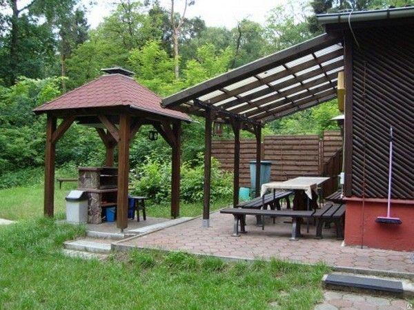 Відкрита тераса з літньою кухнею