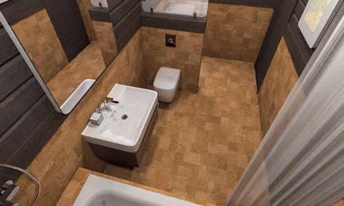 Фото - Облаштування ванної в брусовому будинку