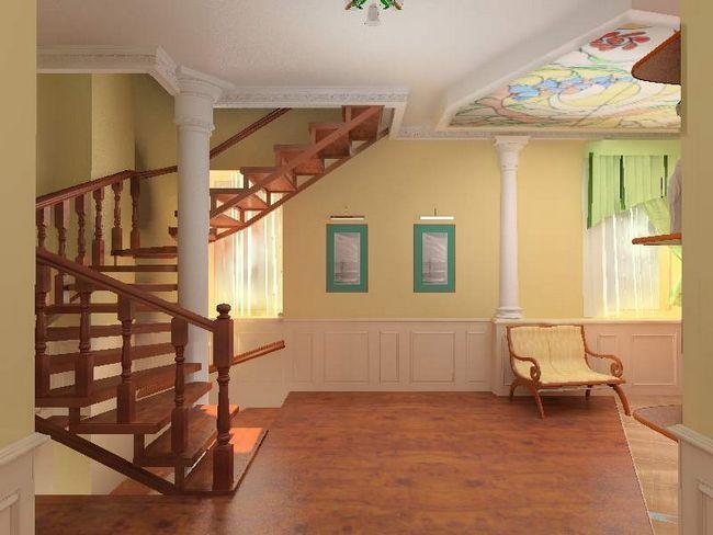 Фото - Оформлення сходів в приватному будинку