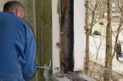 Демонтаж деревяного підвіконня