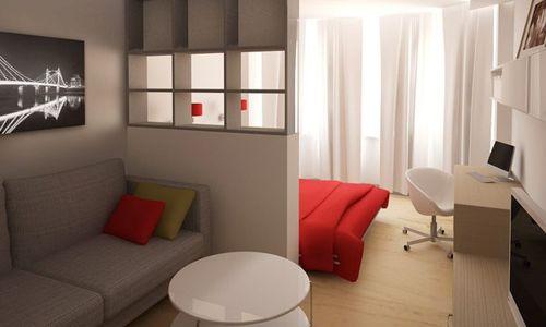 Фото - Оформлення спальні вітальні: два в одному
