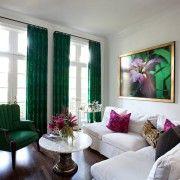 Темно-зелені штори