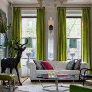 Світло-зелені штори