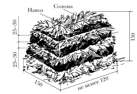 Склад компосту для печериць.