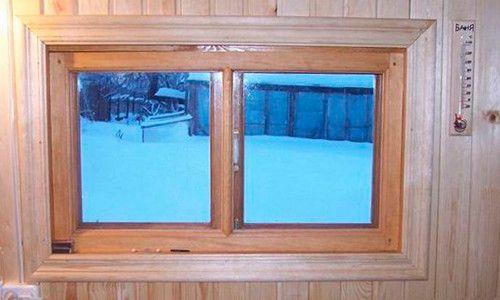 Фото - Вікна в баню: матеріали, конструкція і особливості монтажу